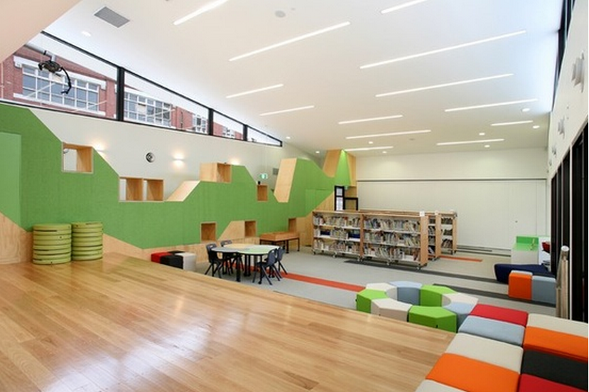 Modern school interior constructing kids for Interior design institute