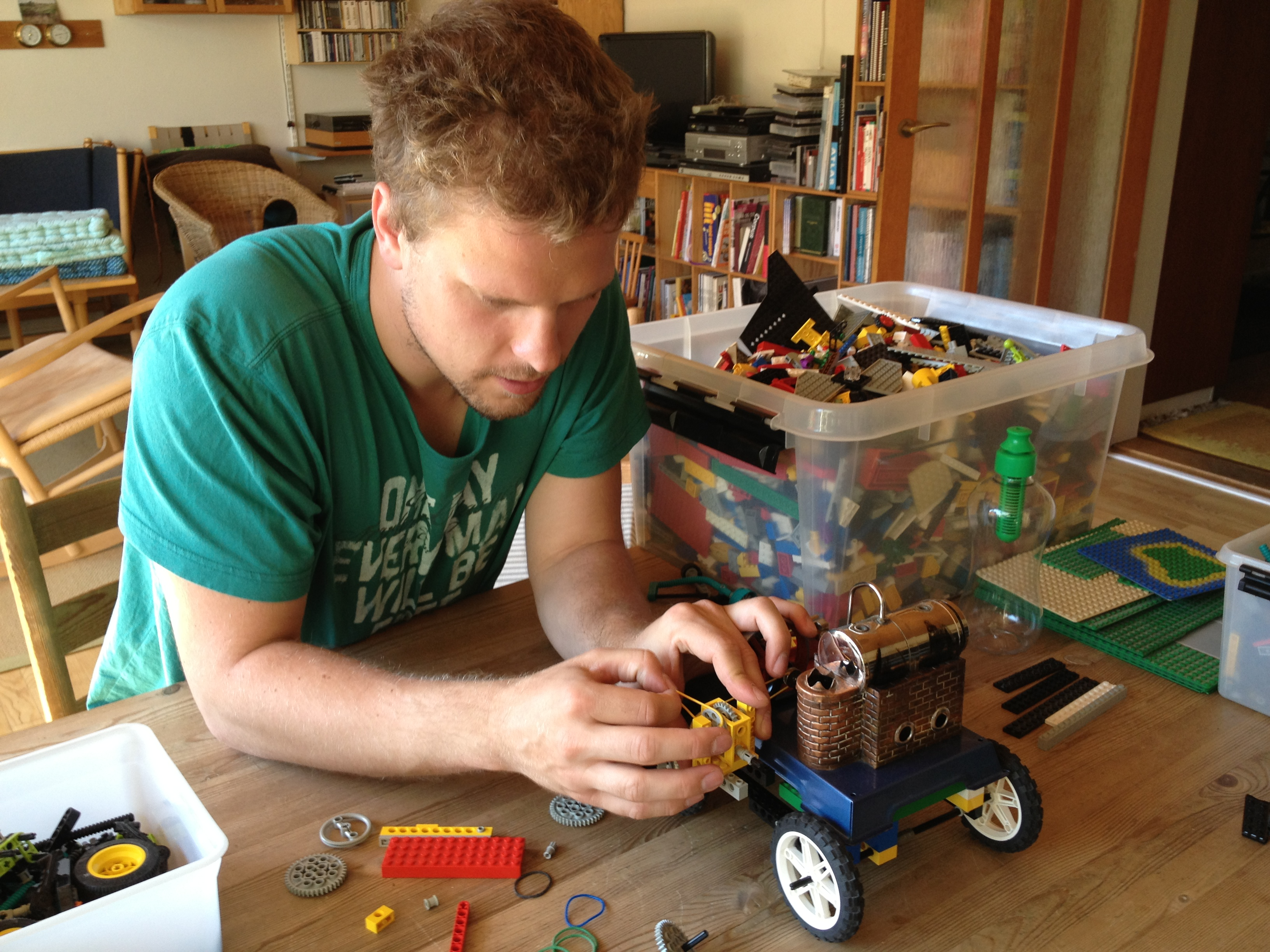 How to build a Steam-powered LEGO car | Constructing Kids
