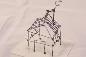 A small house made via 3Doodler