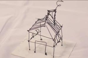 A small house made via 3Doodler