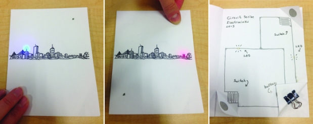 Interactive paper made with Circuit Scribe