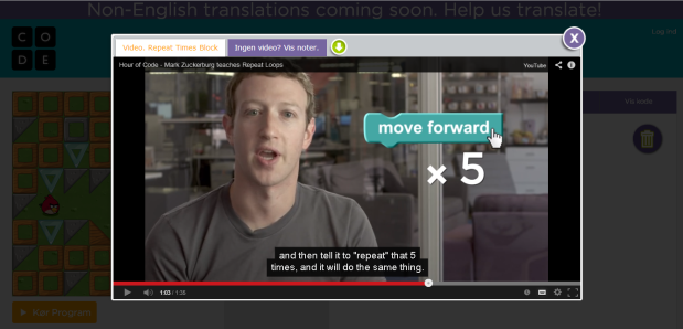 Mark Zuckerberg Hour of Code CS Education Week