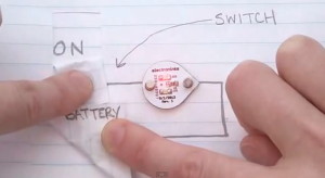 A light switch made with Circuit Scribe