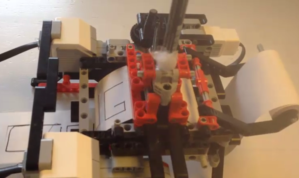 How To Build A Lego Printer From The Mindstorms Ev3 Kit