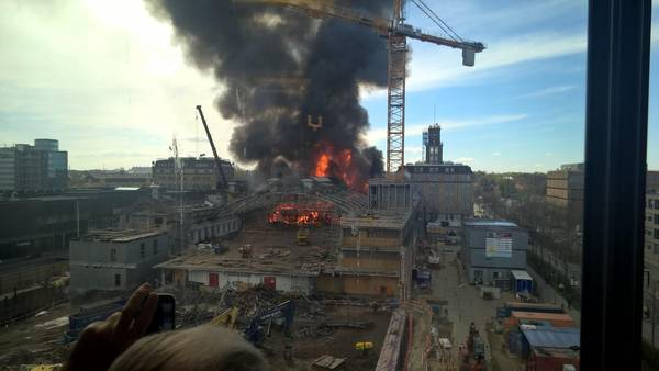 The fire of the Experimentarium in Hellerup